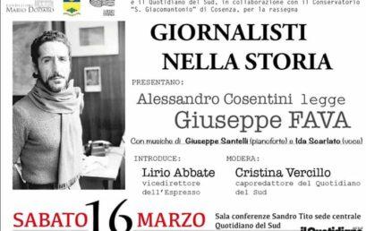 Giornalisti nella Storia – Alessandro Cosentini legge Giuseppe Fava