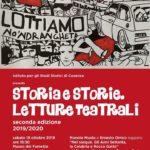"""Storia e Storie – Letture teatrali – Manolo Muoio e Ernesto Orrico leggono """" Nel sangue. Gli anni settanta, la Calabria e Rocco Gatto"""""""