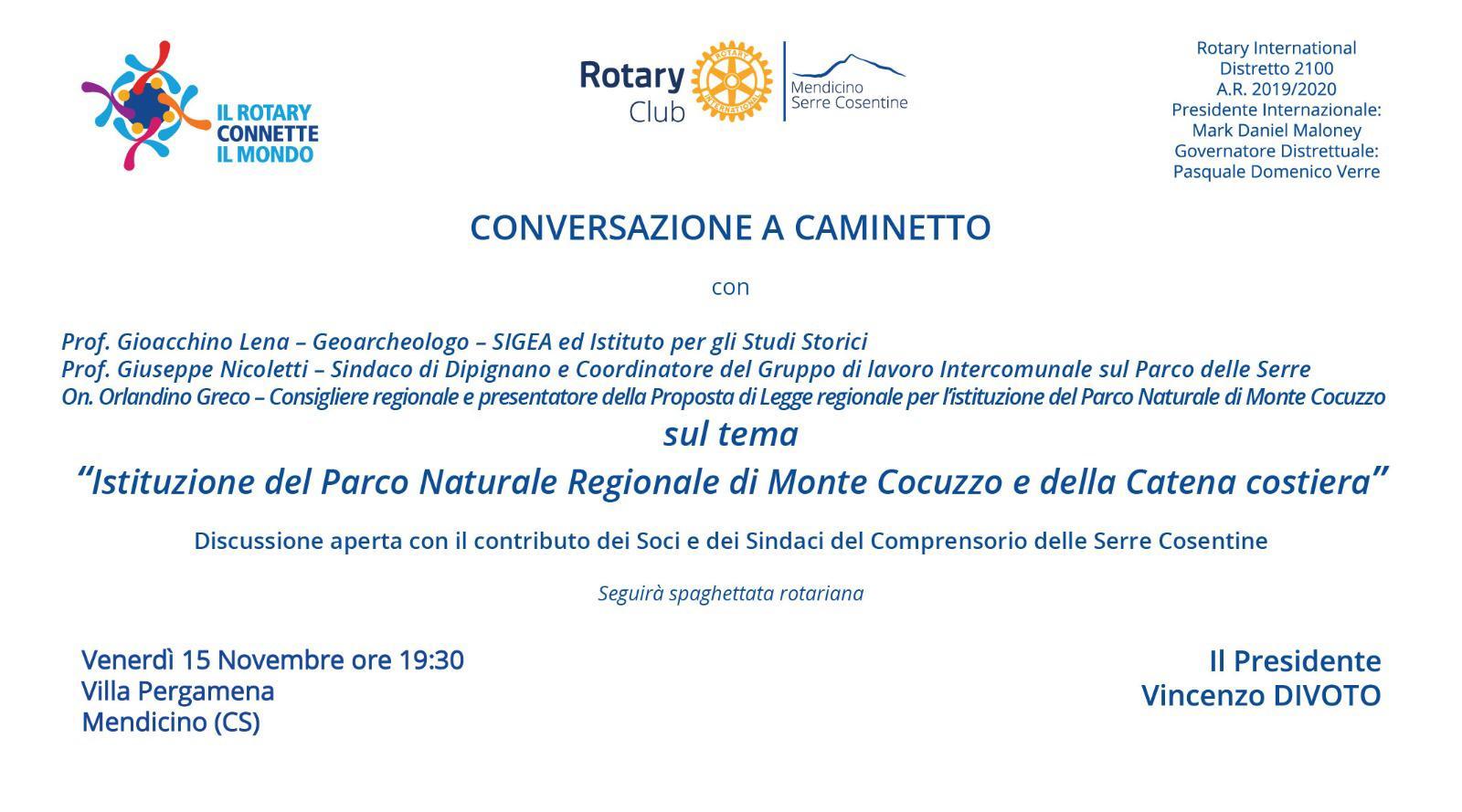 Istituzione del Parco Naturale Regionale di Monte Cocuzzo e della Catena costiera